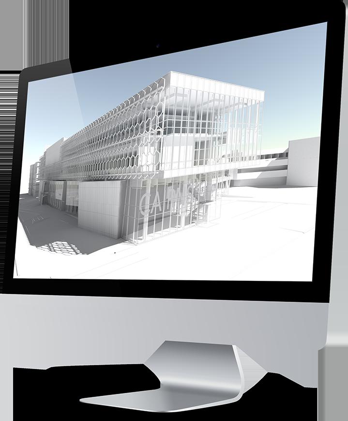 Natavení finálního renderingu - bílý model